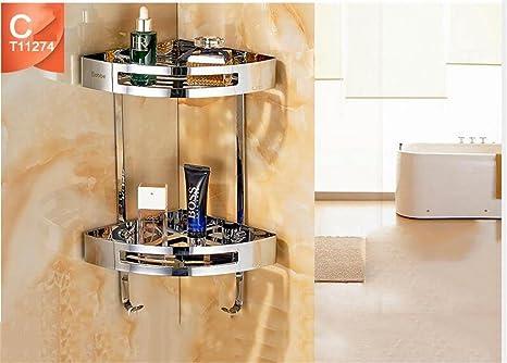 Mensole Da Bagno In Acciaio : Accessori per bagno in acciaio elegante mensole vetro bagno