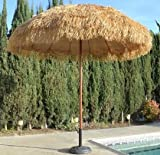 Bayside21 Hula Thatched Tiki Umbrella Natural Color 6' 8' & 9' Options