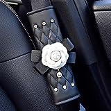 INEBIZ Beautiful Camellia Leather Car Seat Belt