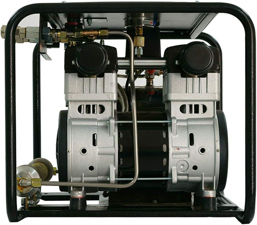 Compresor de buceo HPDMC 80E 110V/60hz para tercer pulmón Serface Buceo 1.5HP sin aceite para paquete de buceo con manguera de respiración de 50 pies y respirador