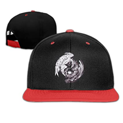 8729d991b70 Amazon.com  China Yin Yang Dragon Adjustable Kids Snapback Hip Hop Flat  Brim Cap Trucker Plain Baseball Hat For Boys Girls  Home   Kitchen