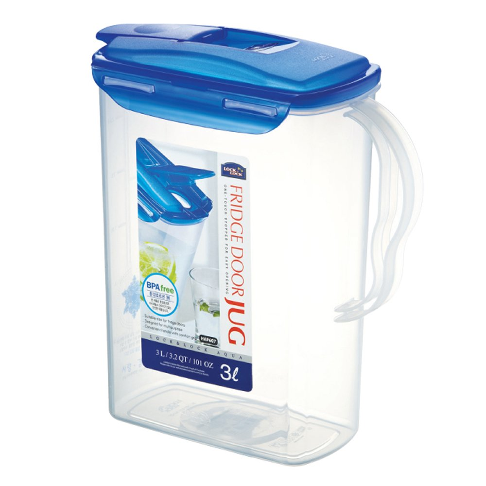 LOCK & LOCK Fridge Door Water Jug with Flip Top Lid 101.44-oz / 12.68-cup
