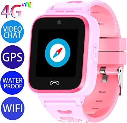 Vowor Kids Smart Watch, 4G WiFi GPS LBS Tracker SOS Emergency Call Children Smartwatches with Camera IP67 Waterproof Watch for Boys Girls, Compatible ...