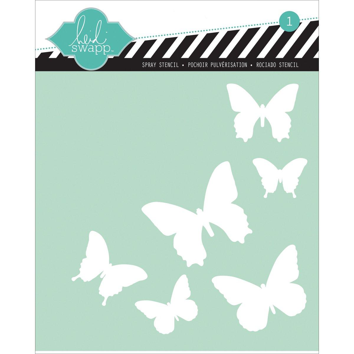 amazon com heidi swapp butterfly stencil 6 by 6 inch