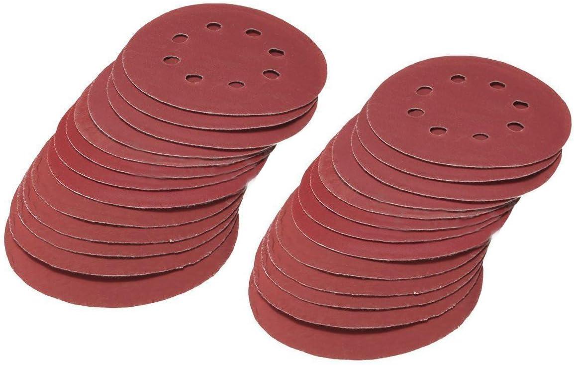 R 25pcs 5 Inch Sanding Discs 125mm 8 Hole Sandpaper 800 1000 1200 1500 2000 Grit TOOGOO