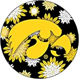 R and R Imports, Inc Iowa Hawkeyes NCAA Collegiate Trendy Floral Flower Fashion Pattern 4
