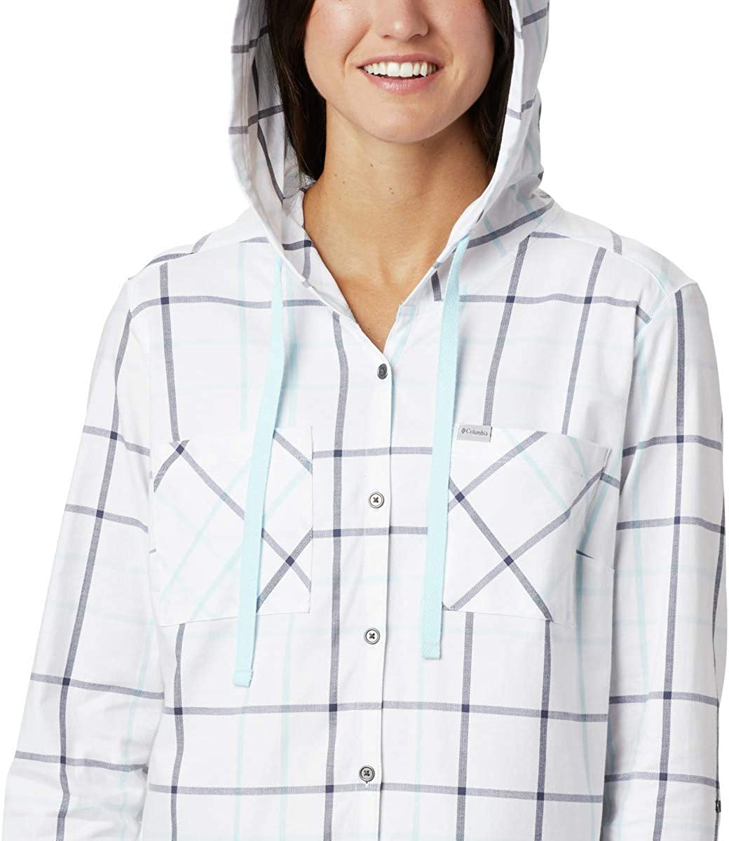 Columbia Womens Anytime Stretch Hooded LS Shirt