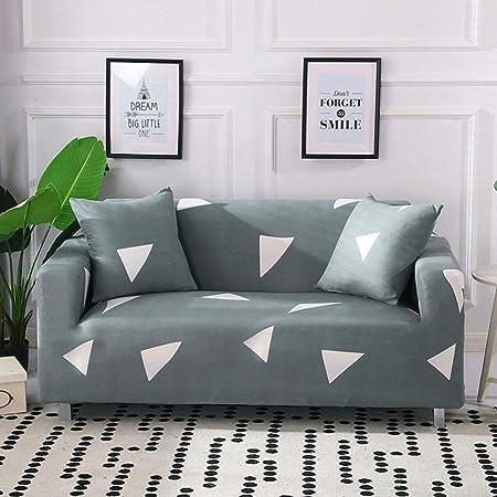 stqjh Funda de sofá elástica geométrica Algodón Elástico Esquina Sofá Toalla Funda de sofá Individual Fundas de sofá para Sala de Estar Mascotas Funda Sofá,Color 6,Pillow case-2pcs: Amazon.es: Hogar