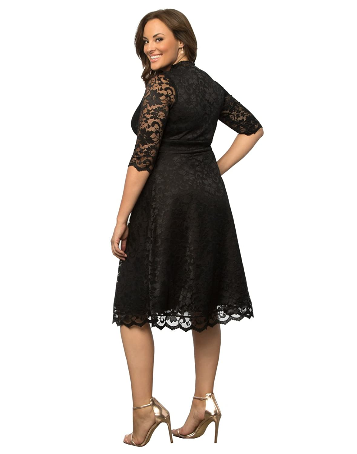 Amazon.com: Kiyonna Women\'s Plus Size Mademoiselle Lace Dress ...