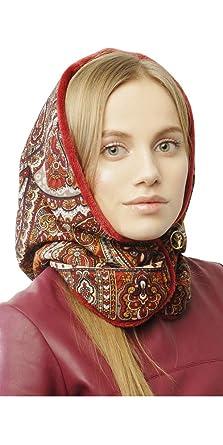 cc24ccc76143d Designer Womens Bonnet Hood Hat Women Cap Womens Beanie Skull Pavlovo Posad Womens  Cap Warm Outdoor Womens Bonnet at Amazon Women's Clothing store: