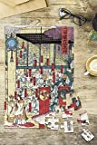 Gathering of Gods at the Great Shrine at Izumo Japanese Wood-Cut Print (8x12 Premium Acrylic Puzzle, 63 Pieces)