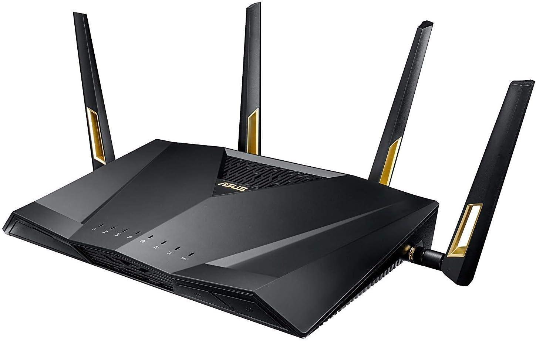 Asus RT-AX88U Quad-Core, Next-Gen WiFi 6, Wireless 802.11ax Dual Band Wi-Fi Adaptive QoS AX6000 Router