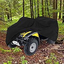 "HEAVY DUTY WATERPROOF ATV COVER FITS UP TO 99"" LENGTH SUPERIOR ATV COVERS 4-WHEELER 4X4 BLACK COLOR, POLARIS, SUZUKI, YAMAHA, KAWASAKI, HONDA, ATV COVER RANCHER, FOREMAN, FOURTRAX, RECON"