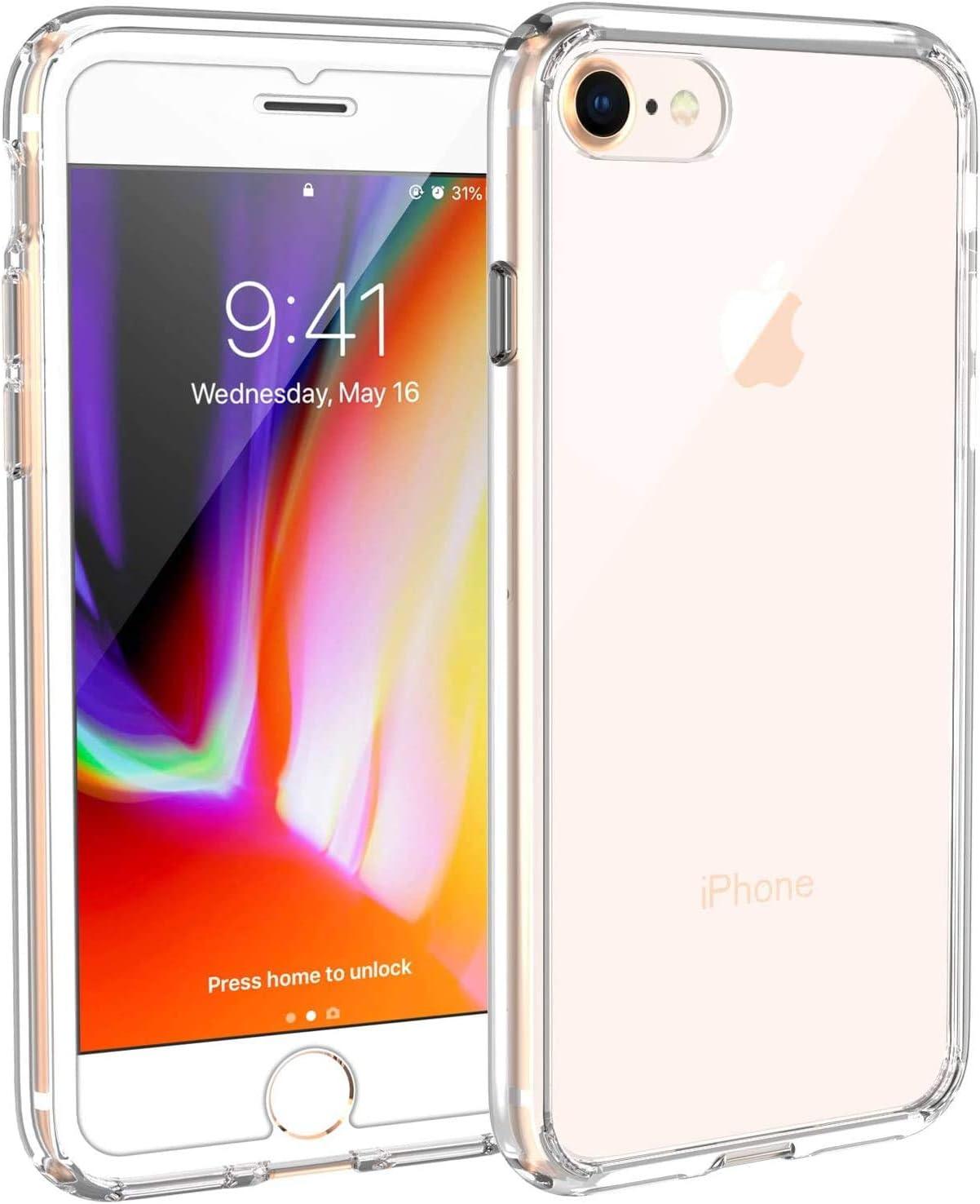 Syncwire Funda para iPhone 8/7 / SE 2020, UltraRock Funda para iPhone 7/8/SE 2020 con protección Avanzada Anti caídas y con tecnología de Cámara de Aire para iPhone 8/7/SE 2020,Cristal Transparente