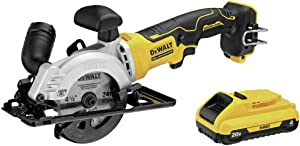 Dewalt DCS571B-DCB240-BNDL ATOMIC 20V MAX Brushless 4-1/2 in. Circular Saw and 4 Ah Compact Lithium-Ion Battery