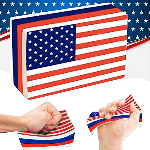 Jeeke Stress Reliever ToysAmerican Flag Slow Rising Collection Squeeze Decompression Toys For 4th of July (Color A)