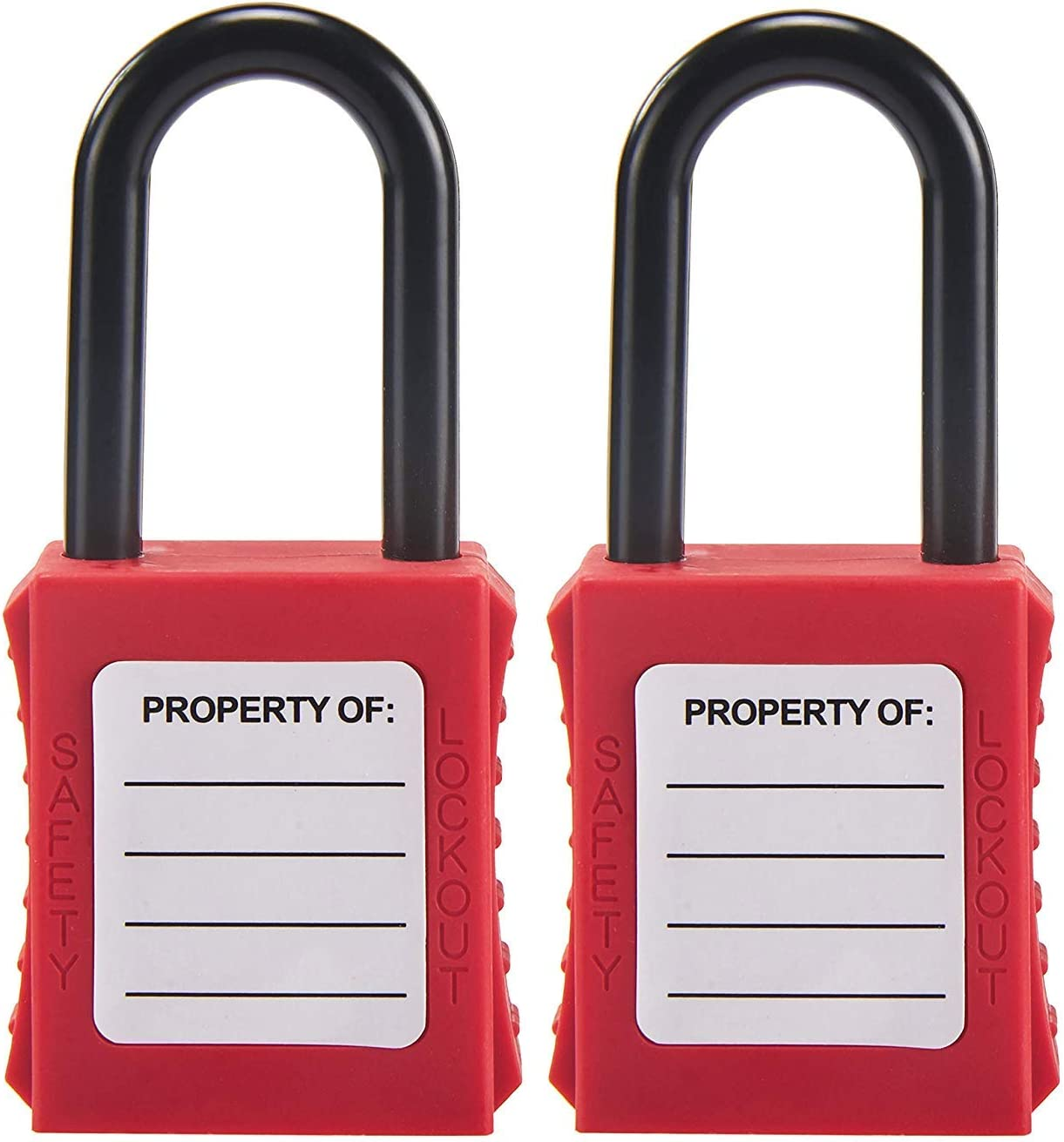 2Pcs Red Durable Lock Safety Padlock Keyed Different for Lockout//Tagout