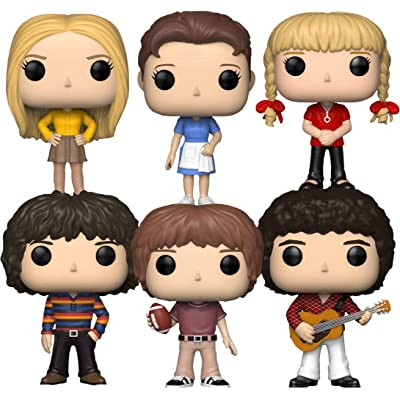 """Funko Pop! Television: The Brady Bunch Collectible Vinyl Figures, 3.75"""" (Set of 6): Toys & Games"""