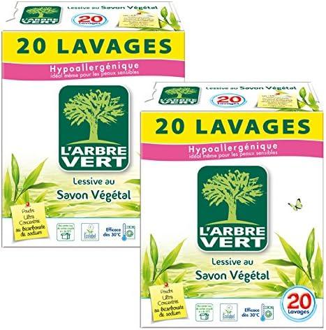 LArbre Vert - Detergente en polvo, 20 lavados padres: Amazon.es ...