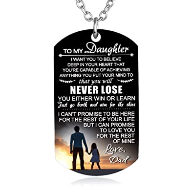 98643033b1af2 FAYERXL to My Son Daughter Gift Ideas from Dad Mom Colorful Dog Tag ...