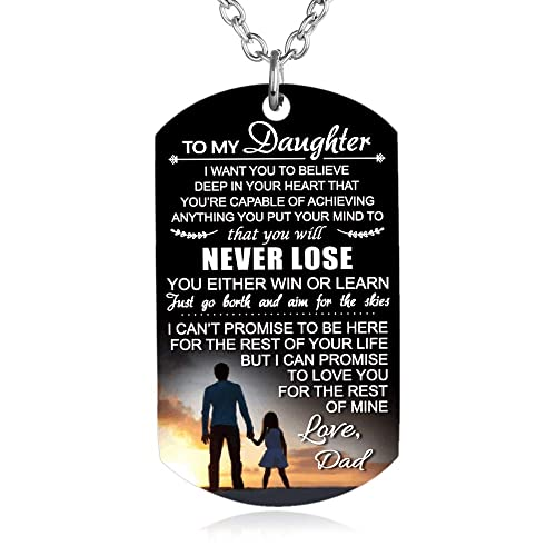 FAYERXL To My Son Daughter Gift Ideas From Dad Mom Colorful Dog Tag Necklace Men Boy Girl Birthday