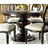 Universal Furniture 988656 Summer Hill Collection Complete Round Table Top with Single Pedestal Base, Midnight