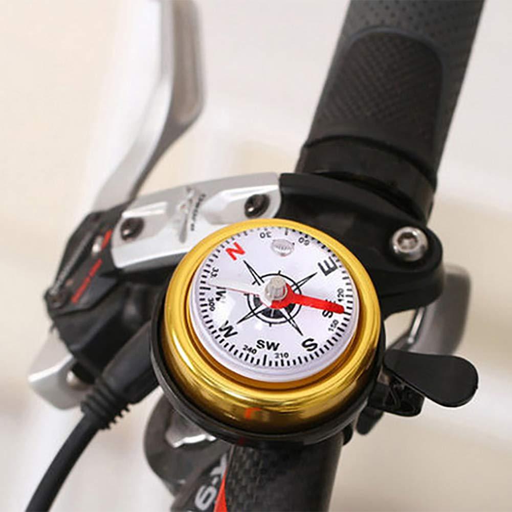 Black Duk3ichton Mountain Bike Cycling Handlebar Ring Alarm Compass Ring-down Horn Bicycle Bell