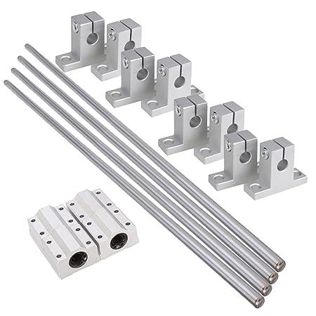 8mm Dia Linear Ball Bearing Rail Support 30cm Shaft Optical Axis Set