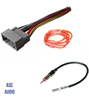 asc audio car stereo wire harness and antenna adapter to install an  aftermarket radio for select