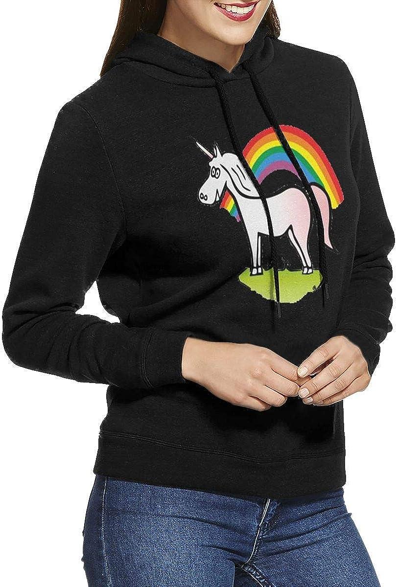 Marsherun Women Unicorn Rainbow Pullover Fleece Hoodies Sportswear