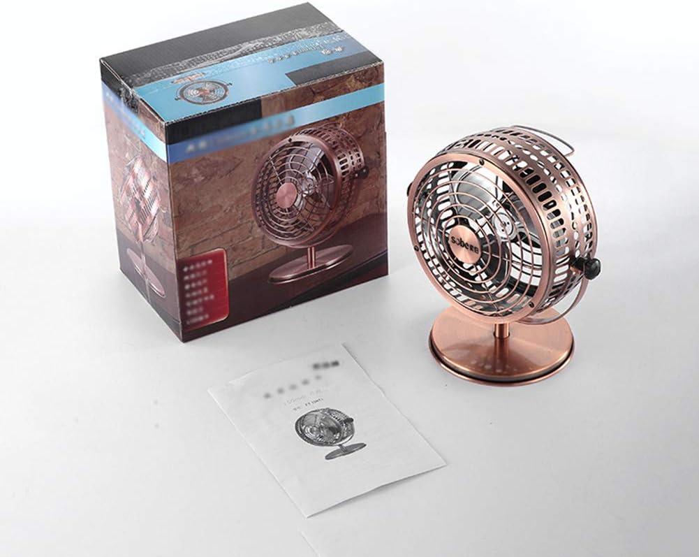 XB USB Fan Metal Desk USB Fan Mini Silent Fan Portable Cooling Fan Perfect for Notebook Laptop PC Desk Table with 360 Degree Rotation