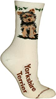 product image for Wheel House Designs Yorkshire Terrier Puppy Argyle Socks (Shoe size 9-12)