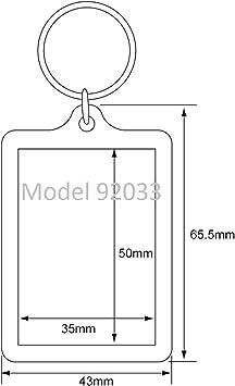 Pc3721 92033 Schlüsselanhänger Für Foto Mit 50 X 35 Mm Transparent 5 Stücke Küche Haushalt