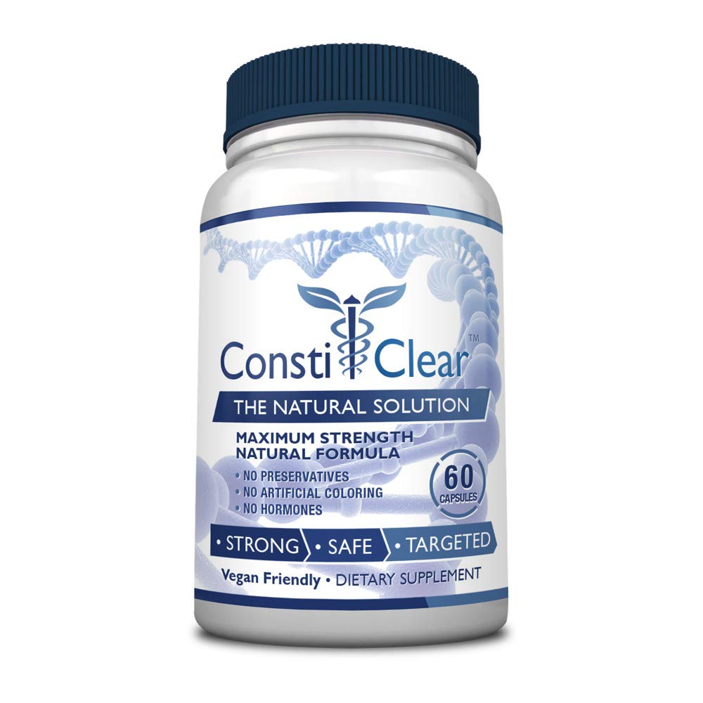 ConstiClear - #1 100% Natural Constipation Relief Supplement - Treats The Underlying Causes of Constipation & Supports Healthy Gut Flora for Long-Term Prevention - 100% Money Back - 1 Bottle Supply by ConstiClear