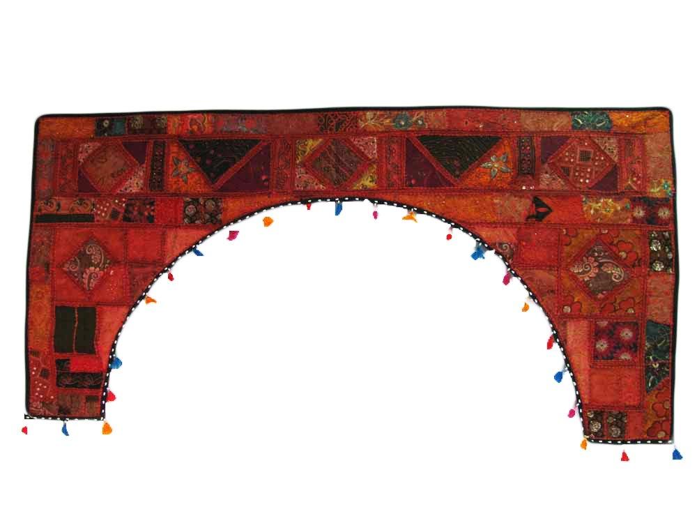 Large Indian Home Decor Kantha Zari Handmade Patchwork Bandhanwar Toran Valence