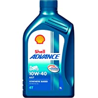 Shell Advance AX7 550042982 10W-40 API SM Synthetic Technology Motorbike Engine Oil (1 L)