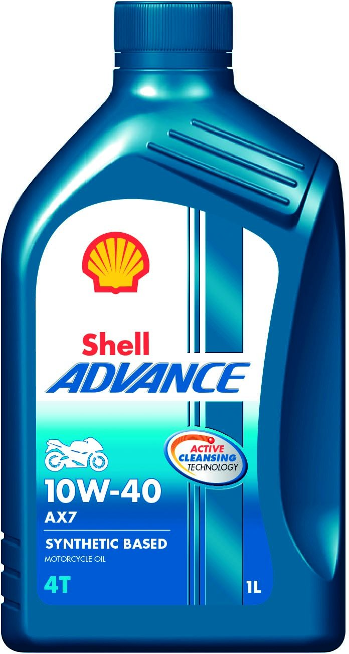 Shell Advance AX7 600042667 10W-40 API SM Synthetic Technology Motorbike Engine Oil (1 L) product image