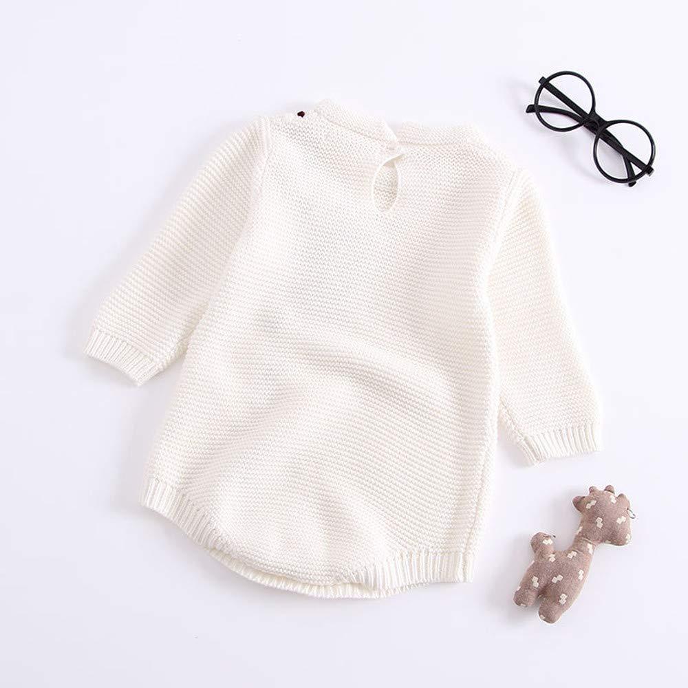 OHQ Infantil ReciéN Nacido Invierno Bebé NiñO NiñA Arco Punto Mameluco Crochet Ropa Trajes Sudaderas Abrigo: Amazon.es: Ropa y accesorios