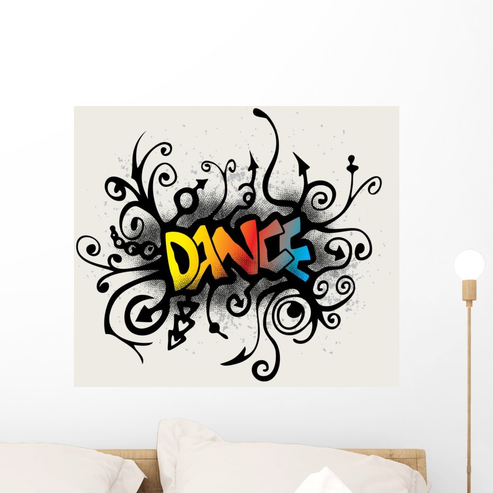 Wallmonkeys Vines Growing into a Dance Pattern Wall Decal Peel and Stick Graphic WM158602 (24 in W x 21 in H)