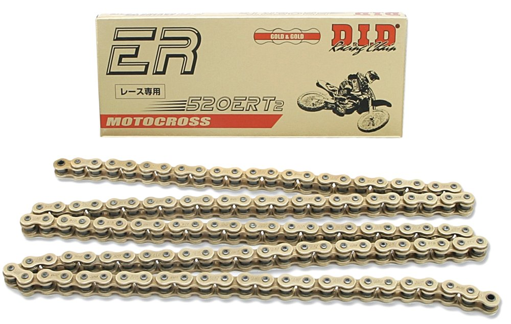D.I.D 520ERT2-122 Gold 122-Link High Performance Racing Chain with Connecting Link