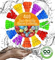 Self-Sealing Water Balloons 440 Instant Balloons Easy Quick Fill Balloons with in 60 Second Splash Fun Rapid-F