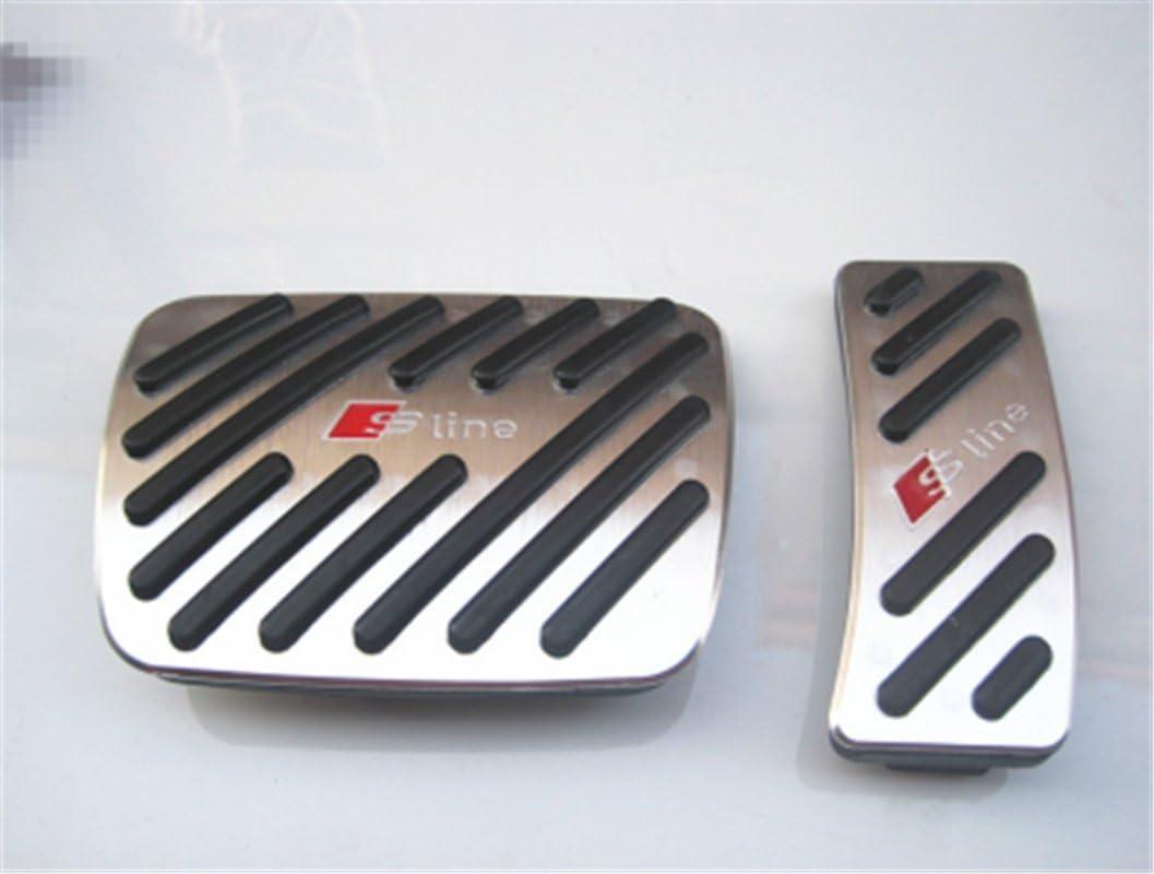 Hopkins No Drilling Automatic Car Gas Brake Pedal Cover Accelerator Brake Foot Rest Pedals Covers For A4 A3 A5 A6 A6L A7 A8L Q5