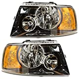 RVLightings Thor Motor Coach ACE 2011-2015 RV Motorhome Pair (Left & Right) Black Headlights NEW