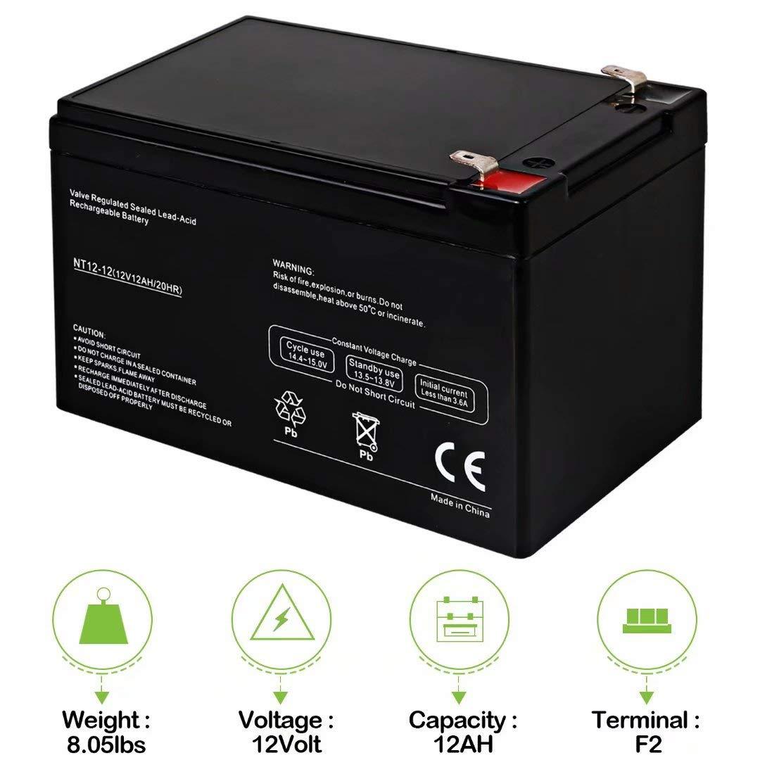 Hykolity 12V 12AH Battery Replaces Go Go Elite Traveller Pride Mobility 12 Volt SLA Batteries UB12120