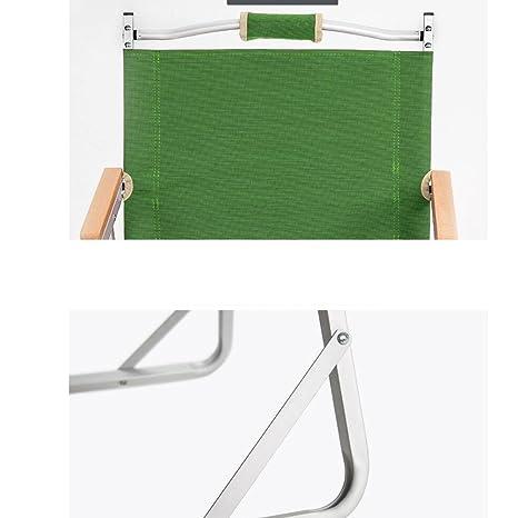 54 61cm LDFN Chaise De Camping Portative Chaise Extérieure Multifonctionnelle Fauteuil De Dossier Paresseux Décontracté,Green-44