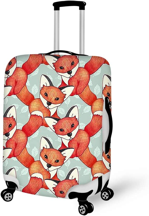 Washable Foldable Luggage Cover Protector Fits 18-21Inch Suitcase Covers Cute Fox
