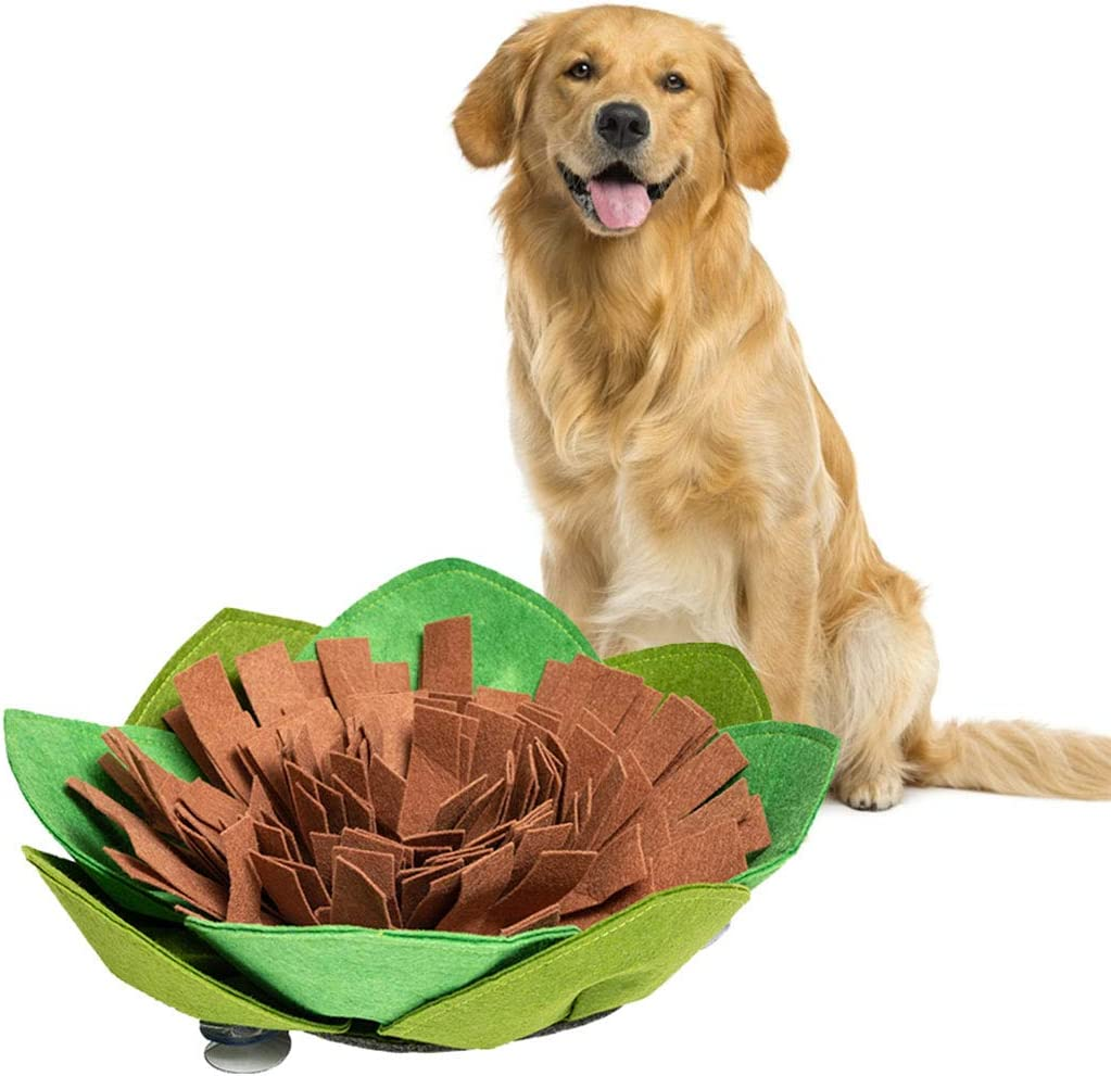 Mingzheng Snuffle Mat for Dogs-Pet Feeding Mat Dog Puzzle Toys for Boredom,Interactive Toys Encourages Natural Foraging Skills for Cats Dogs Bowl Travel Use