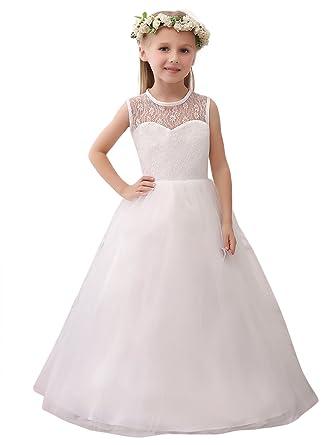 ae72d652e90dd MicBridal Robe de Baptême Robe de Soirée Cérémonie Mariage Enfant Fille  Demoiselle D honneur