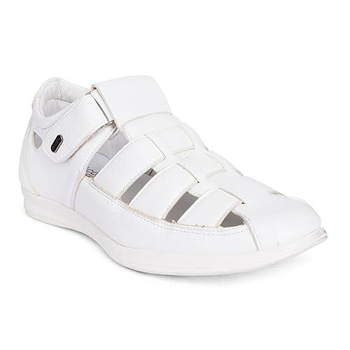 Action Shoes Men's White Sandals - 7 UK
