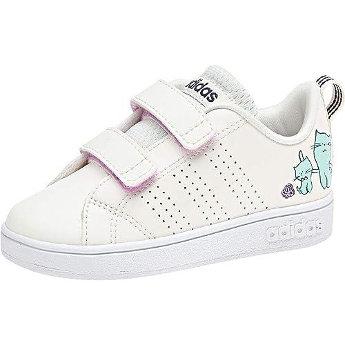 adidas VS ADV Cl CMF INF, Zapatillas de Deporte Unisex niño, Blanco Blanub/